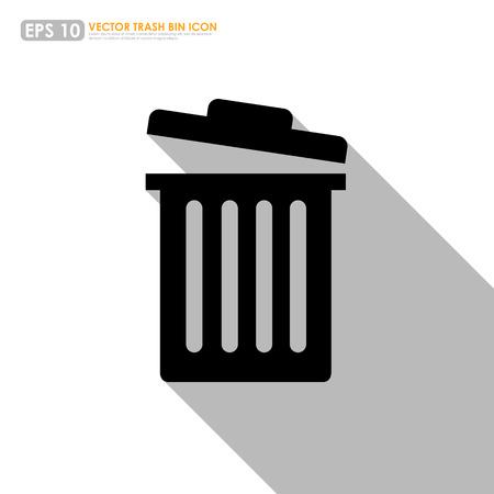 Trash bin or delete icon on white background
