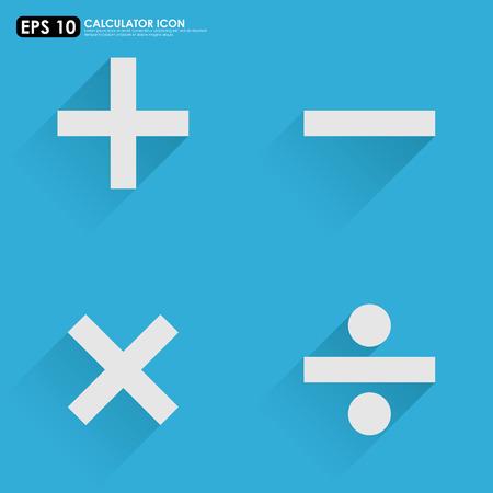 multiplicar: S�mbolos matem�ticos b�sicos - m�s, menos, dividir multiplicar - sobre fondo azul