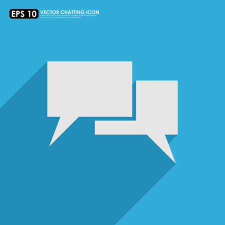 Empty speech or comment bubbles on blue background Vector