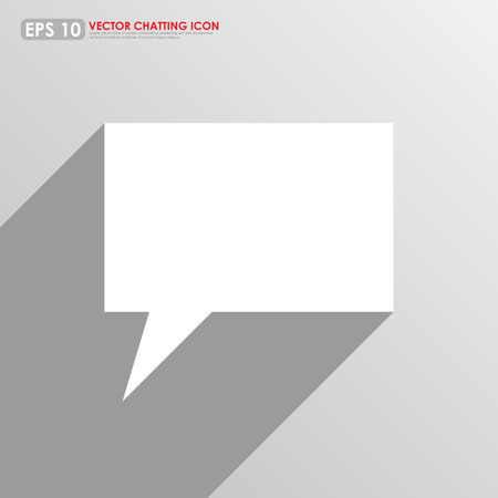 komentář: Prázdné řeči nebo komentář bublina na šedém pozadí