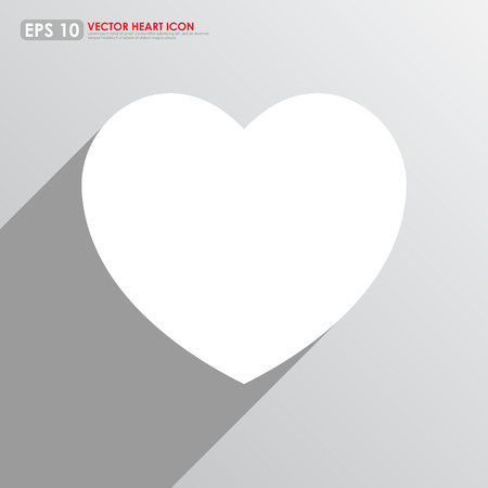 White heart shape on gray background Vector
