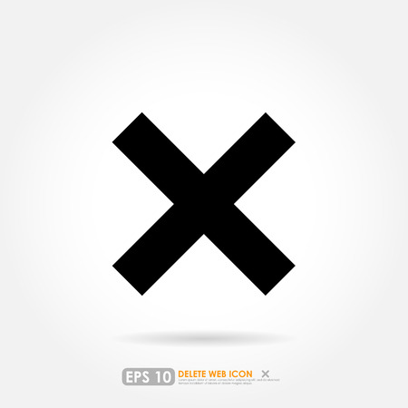 Black cross icon on white background Vector