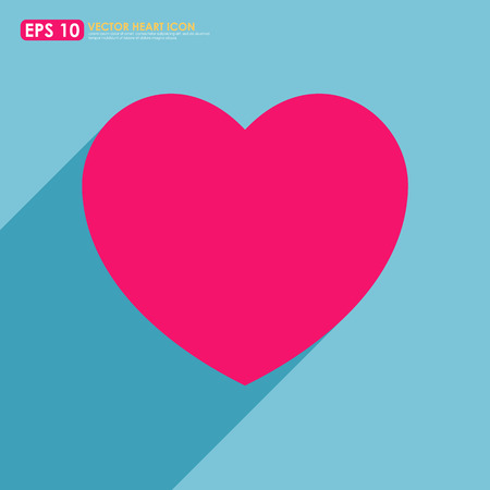 Colorful pink heart shape on blue background Vector