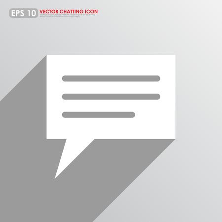 komentář: Řeči nebo komentář bublina na šedém pozadí