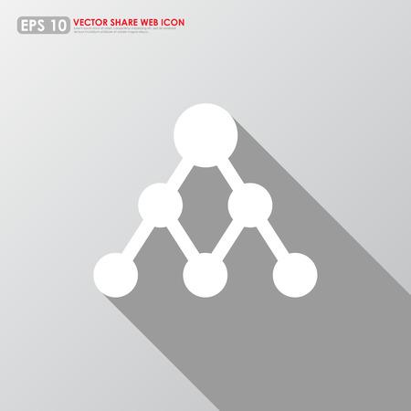 multiplicar: Compartir icono sobre fondo gris