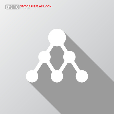 Share icon on gray background Vector