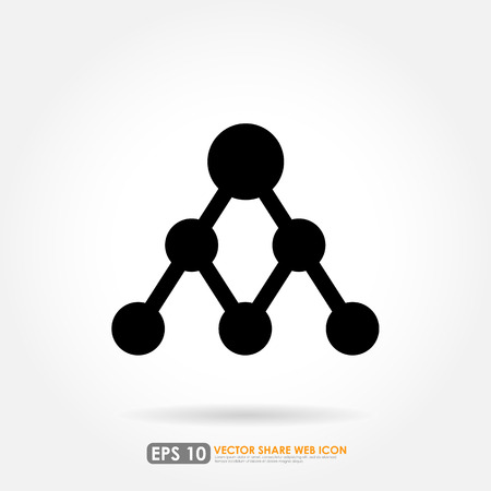 Share icon on white background Vector