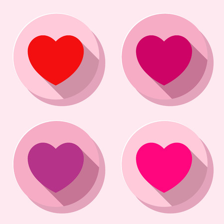 Colorful heart shape icon set Vector