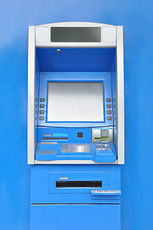 automated teller: ATM or automated teller machine Stock Photo
