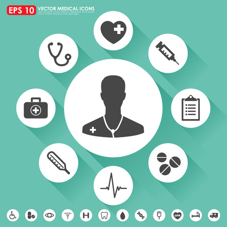 medical icons: Medical vector icon set