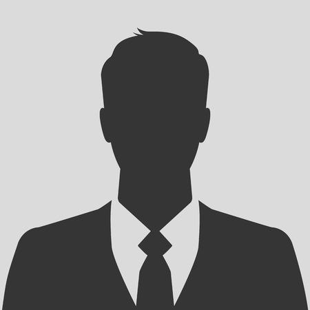 Biznesmen sylwetka zdjęcie z profilu avatar Ilustracje wektorowe