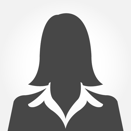 female: Female avatar silhouette profile pictures Illustration