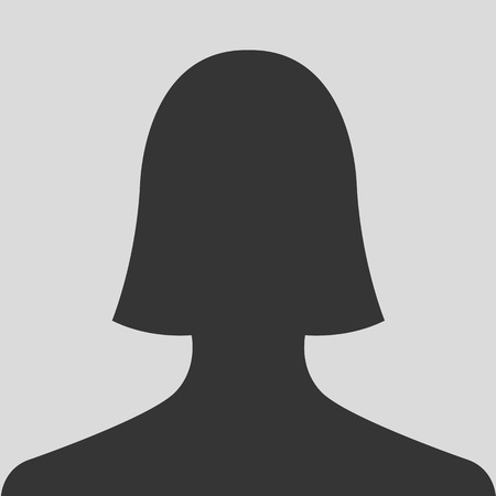 grey hair: Female silhouette avatar profile pictures