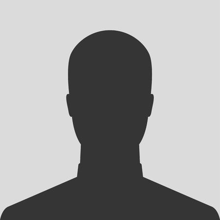 Silhouette masculine photo de profil avatar Banque d'images - 29213194