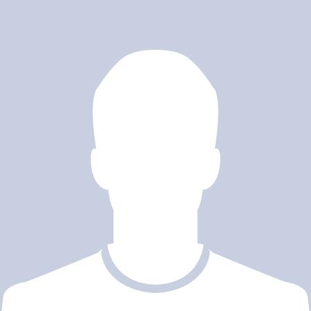 男性のシルエットのアバターのプロフィールの写真  イラスト・ベクター素材