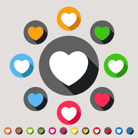 Hearts - colorful icon set Vector