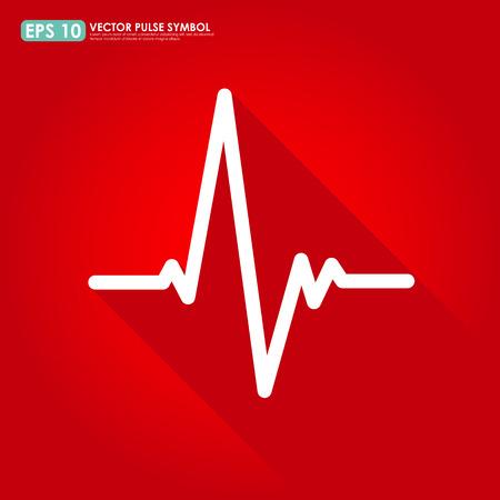 Electrocardiogram, ecg or ekg - medical icon Vector