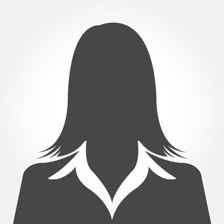 女性アバターのシルエットのプロフィールの写真
