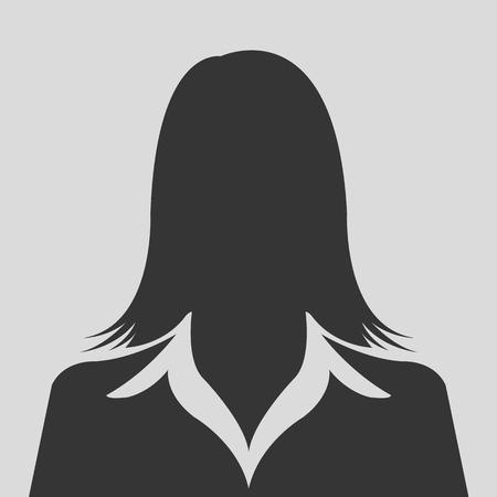 feminino: Avatar feminino perfil silhueta imagens Ilustração