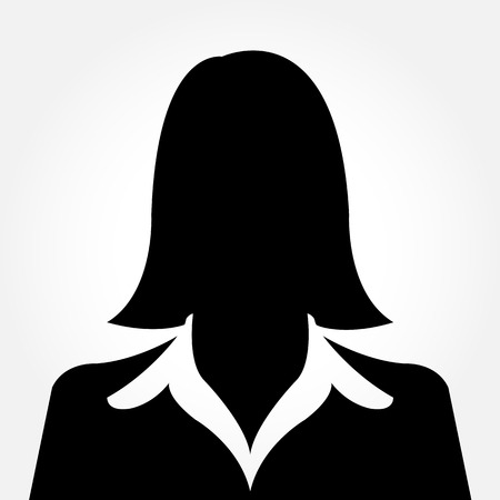 Female avatar silhouette profile pictures Vector