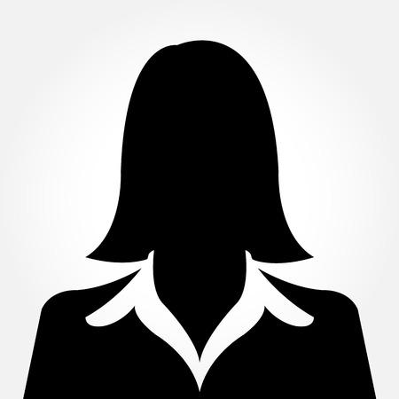 Weiblich Avatar Silhouette Profilbilder