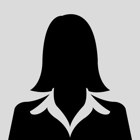 Perfil avatar Silueta femenina fotos Ilustración de vector