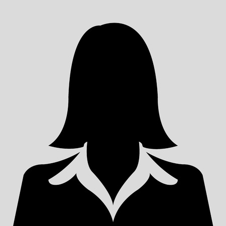 Weiblichen Avatar Silhouette Profilbilder Vektorgrafik