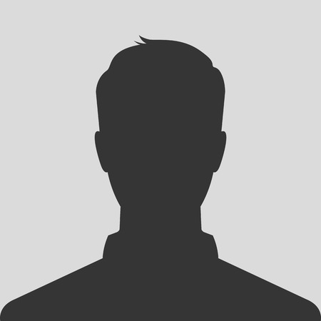 Silhouette maschile avatar immagine del profilo Archivio Fotografico - 29213222