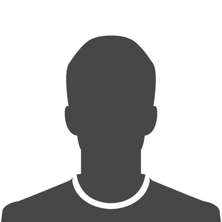 Male silhouette avatar profile picture Illustration