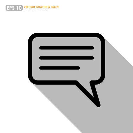 komentář: Speech nebo komentář bublina na bílém pozadí - vektorové ikony
