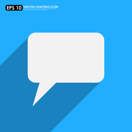 Speech or comment bubble on blue background - vector icon Vector