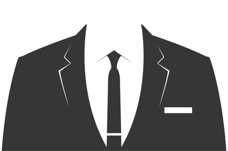 formal attire: Suit - gray business suit for men - vector template