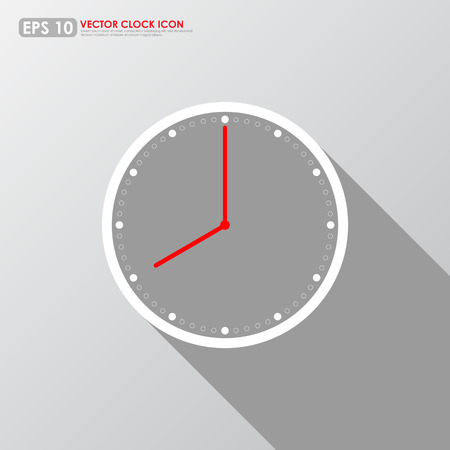 Clock icon on gray background