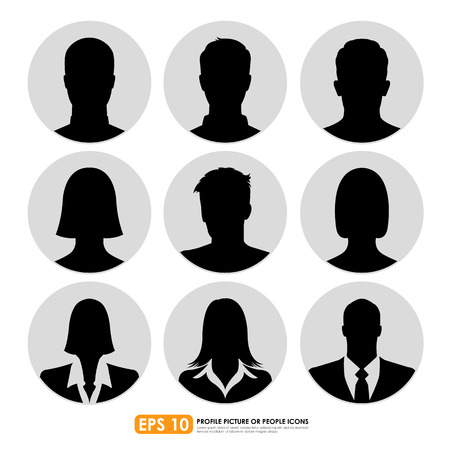 Avatar profile picture icon set including  male, female & businesspeople Stock Vector - 29897535