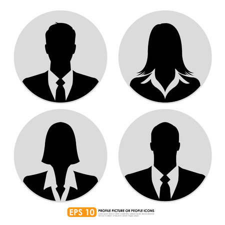 nude male: Businesspeople avatar profile picture set  - males & females Illustration