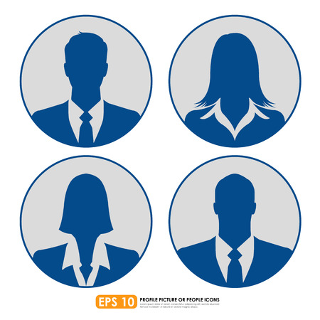 Businesspeople avatar profile picture set  - males & females Vector