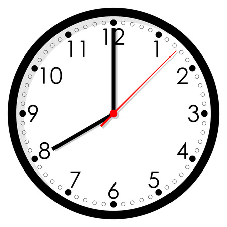 oclock: Clock icon on white background