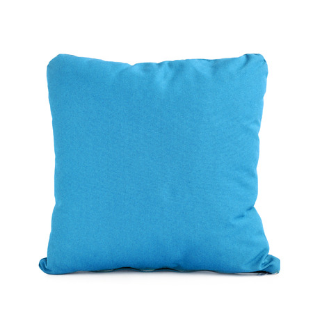 pillow: Small pillow or cushion isolated on white