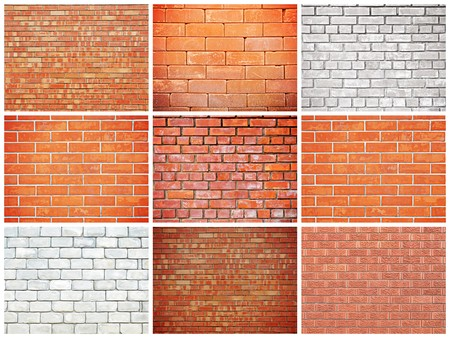grooves: Brick wall texture background set