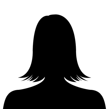 profile picture: Female silhouette avatar profile picture on white background