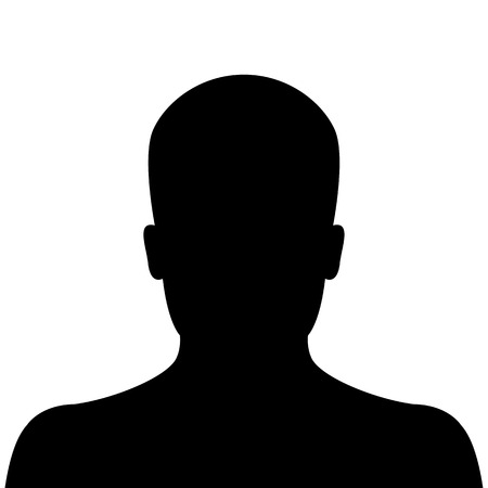 Male silhouette avatar profile picture on white background 일러스트