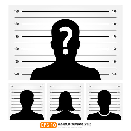 mugshot: Police lineup or mugshot set Illustration