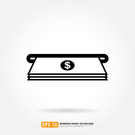 withdraw: ATM withdraw icon Illustration