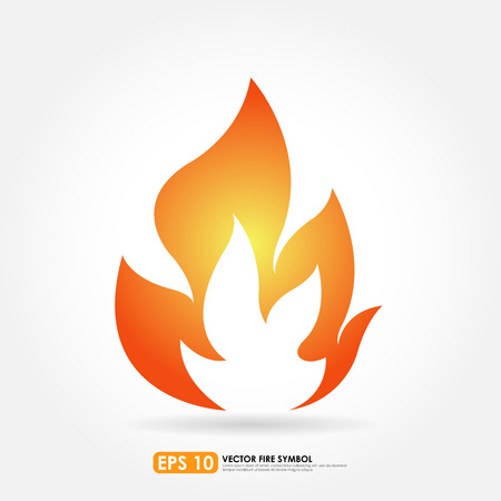 gas flame: Flame or fire icon Illustration