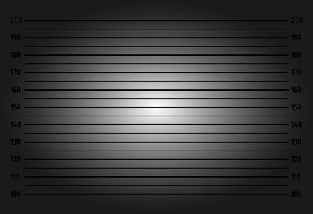 Police lineup or mugshot background - dark version Vektorové ilustrace