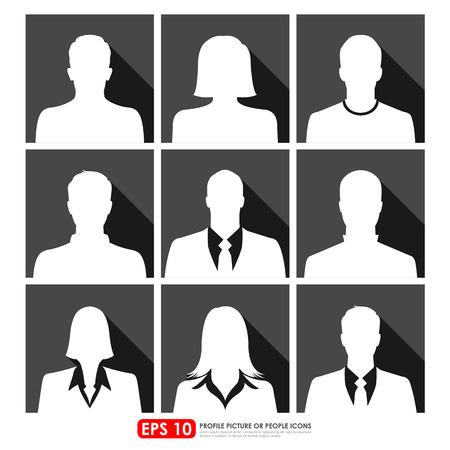 Avatar profielfoto icon set met inbegrip van mannelijke, vrouwelijke en ondernemers