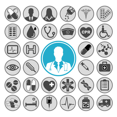 healthcare and medicine: Medical vector icon set