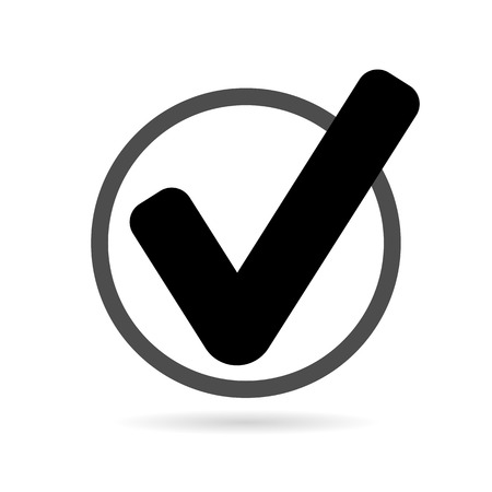Check mark or tick icon Vector