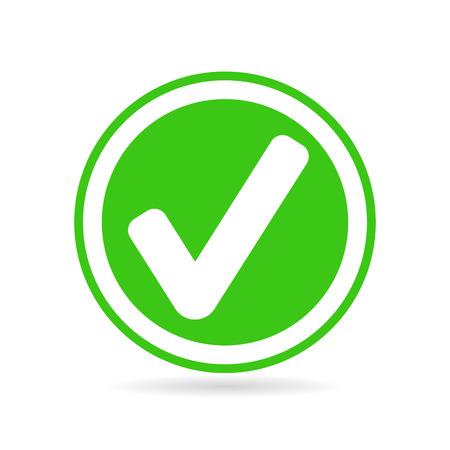 Check mark or tick icon in green circle Vector