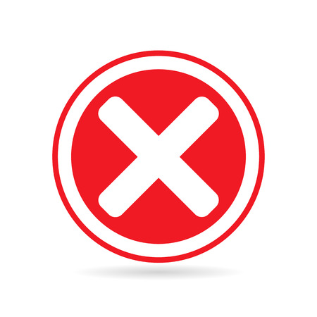 Cross icon in circle - can be used as delete, block & close button etc.